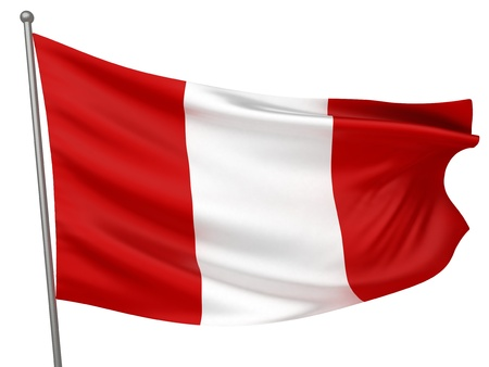 Peru National Flag  | All Countries Collection - Isolated Image photo