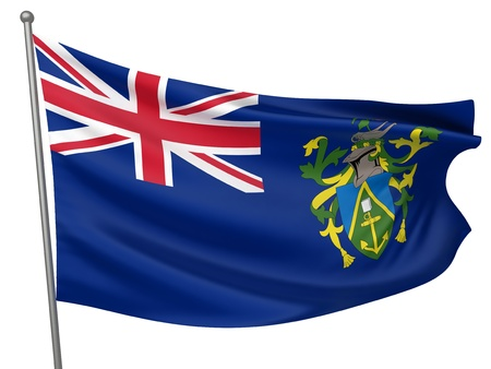 pitcairn: Pitcairn Islands National Flag  | All Countries Collection - Isolated Image