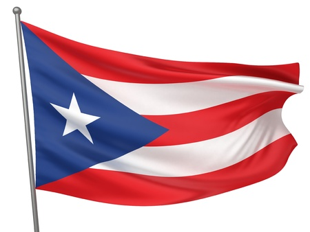 Puerto Rico National Flag  | All Countries Collection - Isolated Image Stok Fotoğraf - 10053998