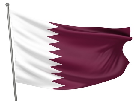 Qatar National Flag  | All Countries Collection - Isolated Image Stok Fotoğraf - 10053966
