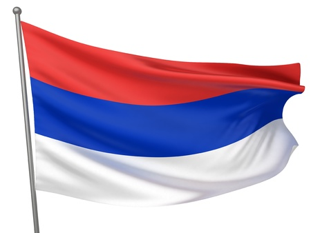 republika: Republika Srpska National Flag  | All Countries Collection - Isolated Image