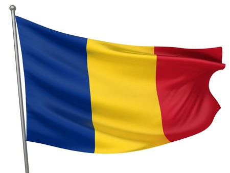 Romania National Flag  | All Countries Collection - Isolated Image Stock Photo