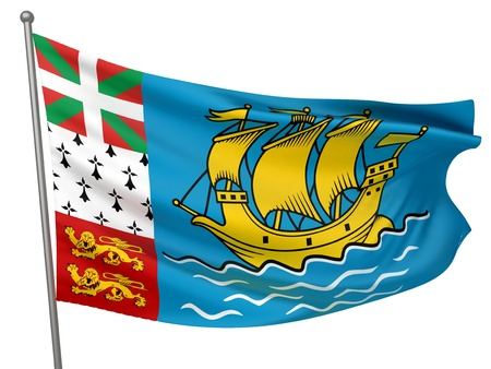 Saint Pierre and Miquelon National Flag    All Countries Collection - Isolated Image Stock Photo - 10054116