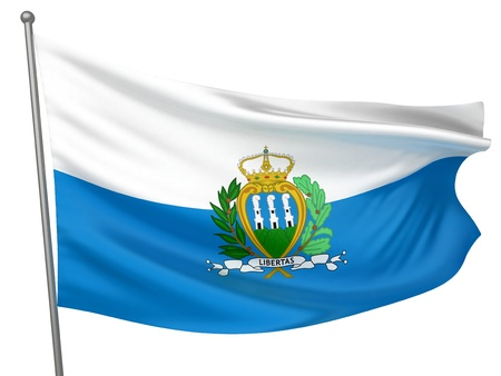 marino: San Marino National Flag  | All Countries Collection - Isolated Image