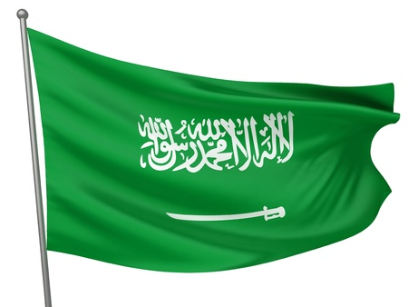 national emblem: Saudi Arabia National Flag  | All Countries Collection - Isolated Image