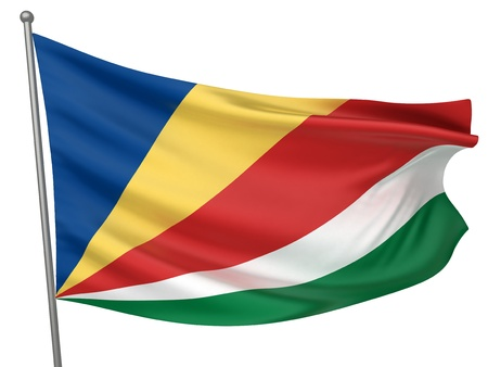 seychelles: Seychelles National Flag  | All Countries Collection - Isolated Image Stock Photo