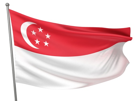 Singapore National Flag  | All Countries Collection - Isolated Image