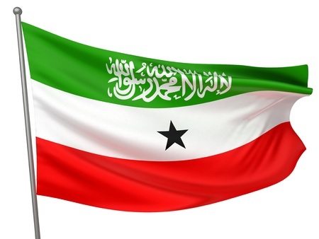somaliland: Somaliland National Flag  | All Countries Collection - Isolated Image Stock Photo