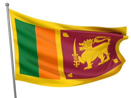 Sri Lanka National Flag  | All Countries Collection - Isolated Image Stock Photo - 10054039
