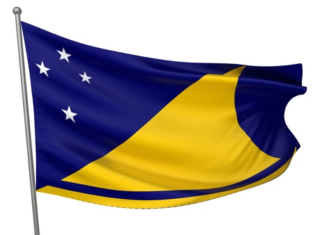 tokelau: Tokelau National Flag  | All Countries Collection - Isolated Image