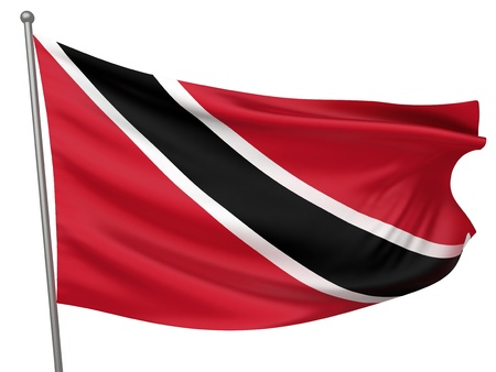 trinidad and tobago: Trinidad and Tobago National Flag  | All Countries Collection - Isolated Image
