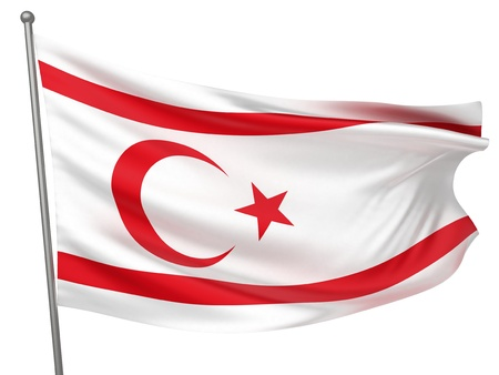 Turkish Republic of Northern Cyprus National Flag  | All Countries Collection - Isolated Image