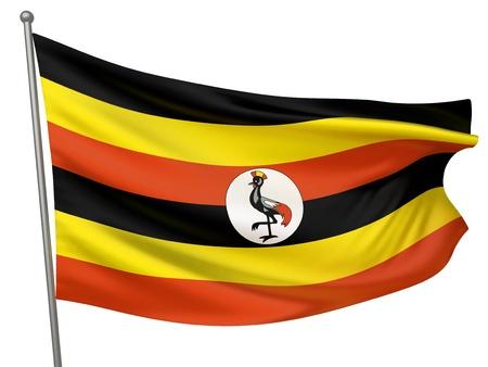 uganda: Uganda National Flag  | All Countries Collection - Isolated Image