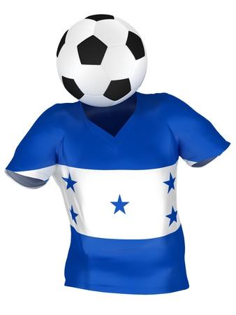 bandera de honduras: Selecci�n Nacional de F�tbol de Honduras   Todos los equipos de colecci�n   aislada Foto de archivo