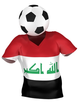 National Soccer Team of Iraq | All Teams Collection |  Isolated photo