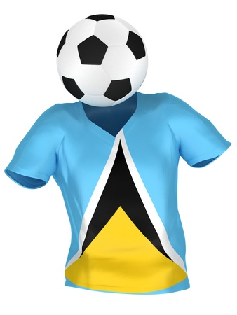 saint lucia: National Soccer Team of Saint Lucia | All Teams Collection |  Isolated