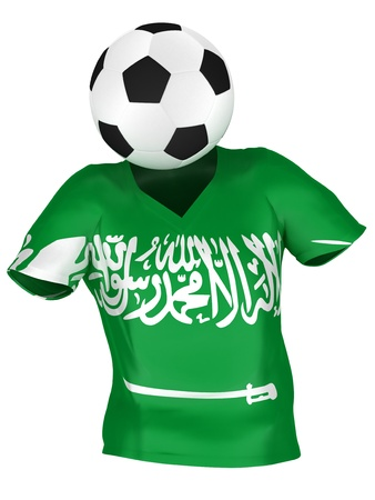 National Soccer Team of Saudi Arabia | All Teams Collection |  Isolated photo