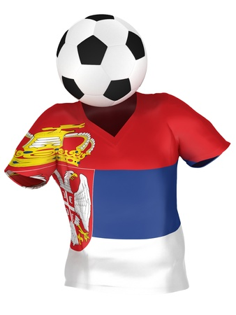 National Soccer Team of Serbia | All Teams Collection |  Isolated photo