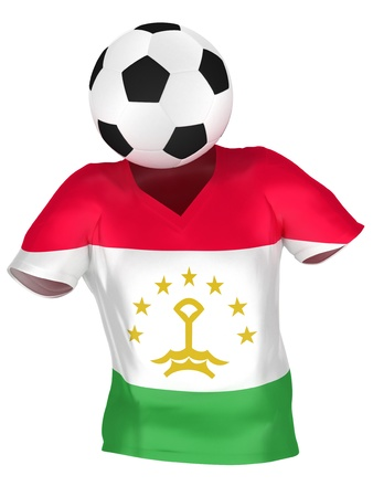 tajikistan: National Soccer Team of Tajikistan | All Teams Collection |  Isolated Stock Photo