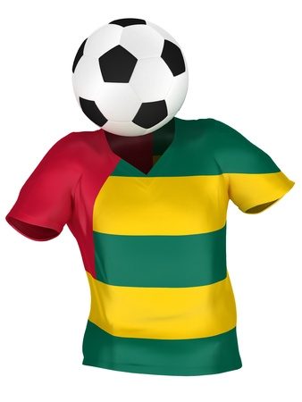 togo: National Soccer Team of Togo   All Teams Collection    Isolated Stock Photo