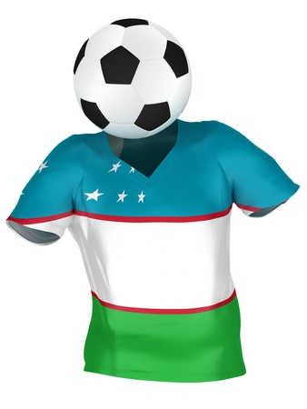 uzbekistan: National Soccer Team of Uzbekistan | All Teams Collection |  Isolated Stock Photo