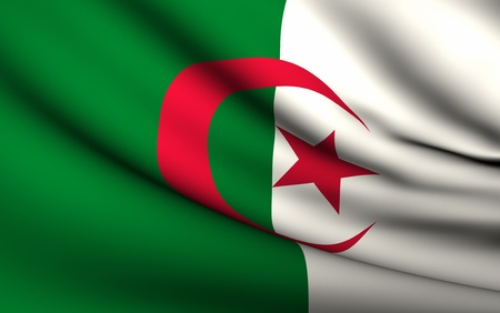Flying Flag of Algeria | All Countries Collection | Stock Photo - 10072752