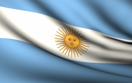 Flying Flag of Argentina | All Countries Collection | Stock Photo