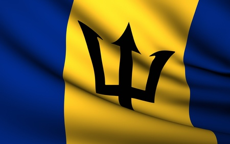 barbados: Flying Flag of Barbados | All Countries Collection |