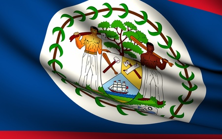 Flying Flag of Belize | All Countries Collection |