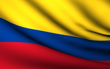 colombia: Flying Flag of Colombia | All Countries Collection |