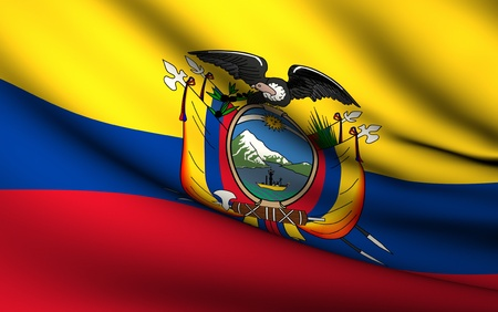 Flying Flag of Ecuador | All Countries Collection |
