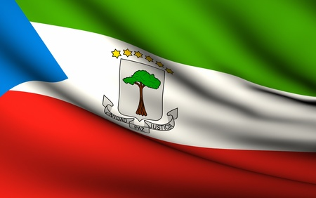 equatorial guinea: Flying Flag of Equatorial Guinea | All Countries Collection |