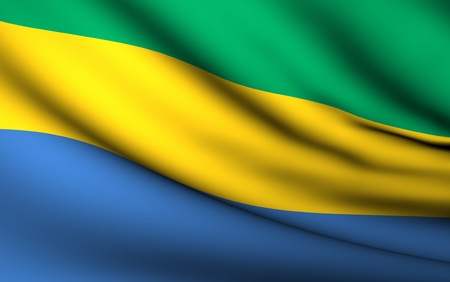 gabon: Flying Flag of Gabon | All Countries Collection |