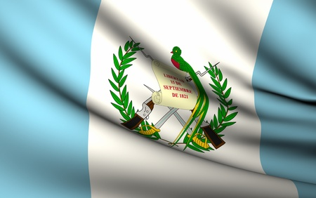 Flying Flag of Guatemala | All Countries Collection | photo