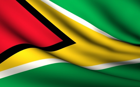 Flying Flag of Guyana | All Countries Collection | photo