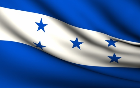 flag of honduras: Flying Flag of Honduras | All Countries Collection | Stock Photo