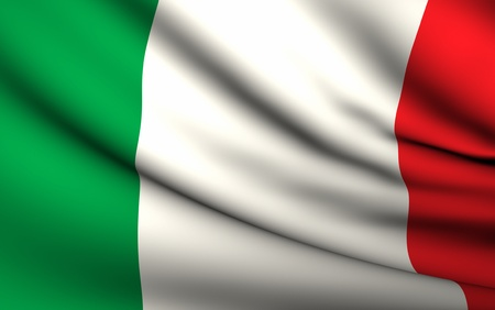 Flying Flag of Italy | All Countries Collection | Stock Photo - 10072747