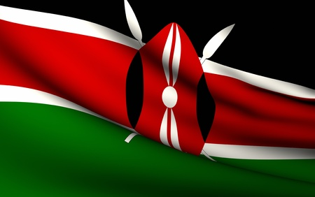 Flying Flag of Kenya | All Countries Collection |
