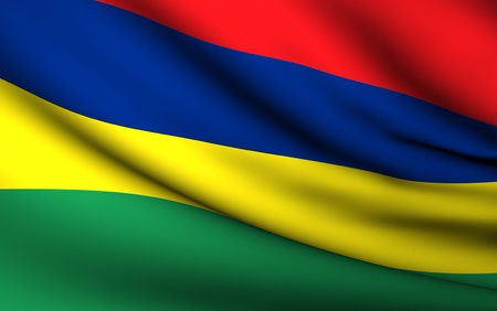 mauritius: Flying Flag of Mauritius | All Countries Collection |