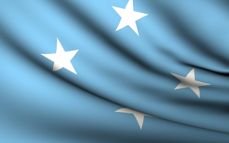 micronesia: Flying Flag of Micronesia | All Countries Collection |