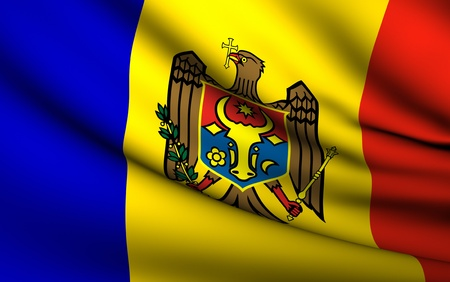 Flying Flag of Moldova | All Countries Collection | photo