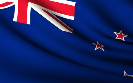 Flying Flag of New Zealand | All Countries Collection | photo
