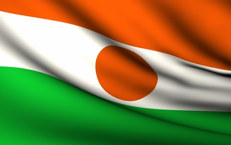 niger: Flying Flag of Niger | All Countries Collection | Stock Photo