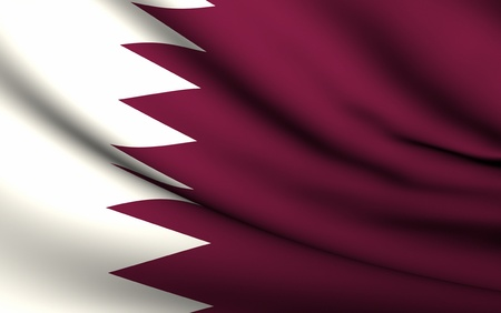 Flying Flag of Qatar | All Countries Collection | Stock Photo