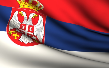 serbia flag: Flying Flag of Serbia | All Countries Collection |