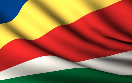 seychelles: Flying Flag of Seychelles | All Countries Collection |