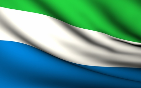 Flying Flag of Sierra Leone | All Countries Collection | Stock Photo