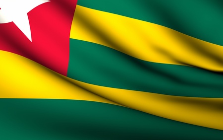 Flying Flag of Togo | All Countries Collection | photo