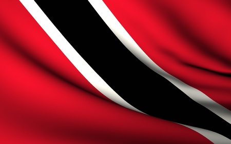 Flying Flag of Trinidad and Tobago   All Countries Collection   Stock Photo - 10072692