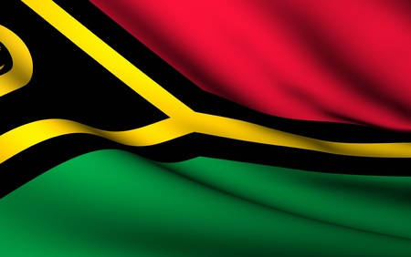 vanuatu: Flying Flag of Vanuatu | All Countries Collection |